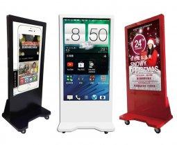 數位教學設備-多點觸控螢幕-直立觸控數位看板(內建廣告託播軟體) ※多尺吋選擇